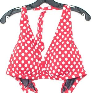 Swimsuits For All Bikini Top Polka Dot Red 24 J1
